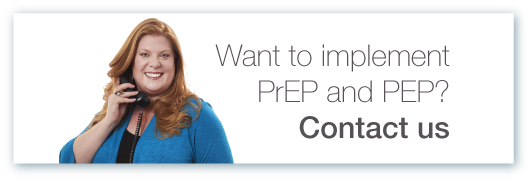 PrEP and PEP contact us button